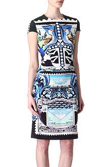 MARY KATRANTZOU Star Sailor printed silk dress