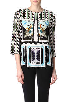 MARY KATRANTZOU India silk top