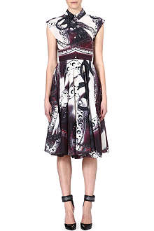MARY KATRANTZOU Brogue-print shirtdress