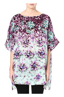MARY KATRANTZOU Floral silk top