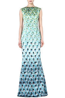 MARY KATRANTZOU Floral print silk gown
