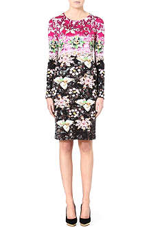 MARY KATRANTZOU Floral-print silk dress