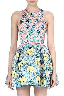 MARY KATRANTZOU Floral-print jersey dress