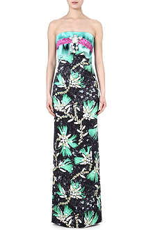 MARY KATRANTZOU Diamond-print bustier gown