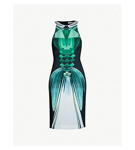 MARY KATRANTZOU Ialic printed stretch-crepe dress (Green purfume