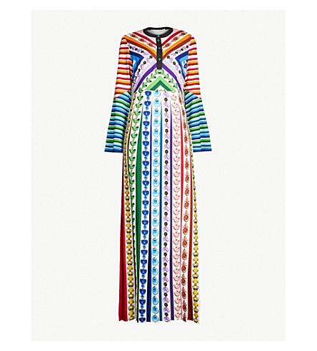 MARY KATRANTZOU Desmine perfume bottle-print satin gown (Rainbow perfume
