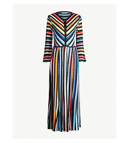 MARY KATRANTZOU Striped knitted midi dress (Multi