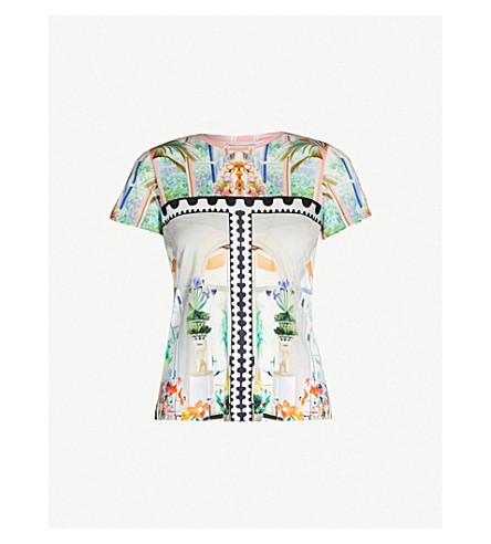 MARY KATRANTZOU Blanche interior stamp-print jersey T-shirt (Stamp interior