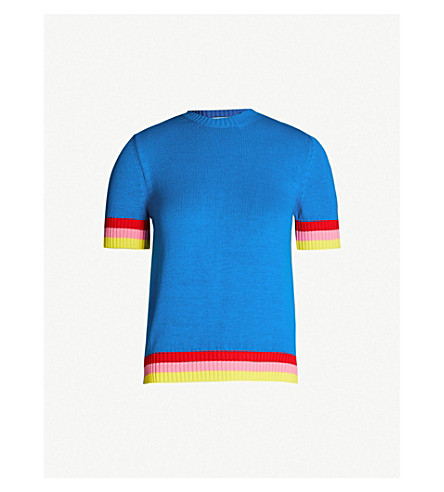 MARY KATRANTZOU Dua striped cotton jumper (Electric blue