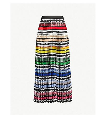 MARY KATRANTZOU Uni rainbow stamp-print crepe skirt (Rainbow stamp