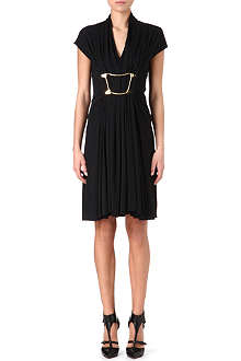 MARIOS SCHWAB Buckle-detail pleated dress