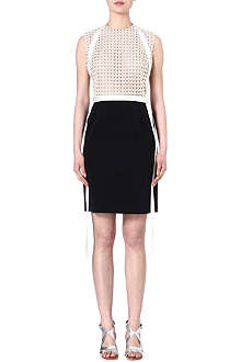 MARIOS SCHWAB Lace top harness dress