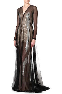 MARIOS SCHWAB Floor length sequin gown