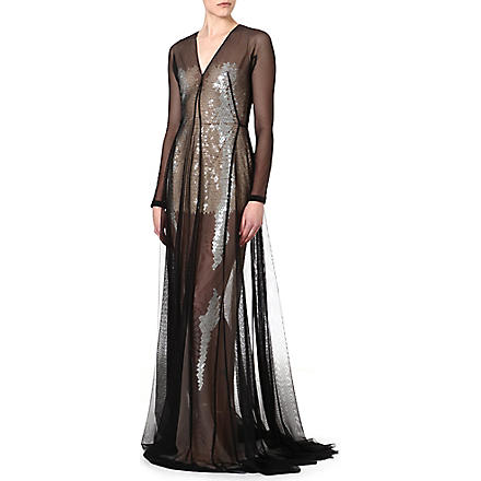MARIOS SCHWAB Floor length sequin gown (Black