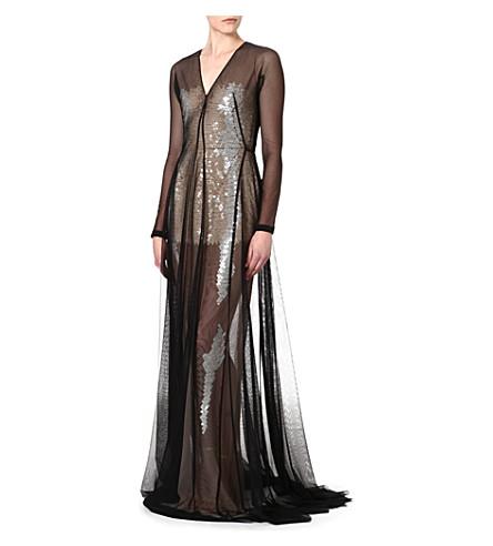 MARIOS SCHWAB Floor length sequin gown (Black