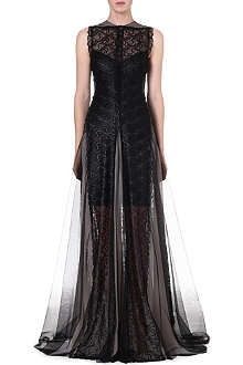 MARIOS SCHWAB Sleeveless lace gown