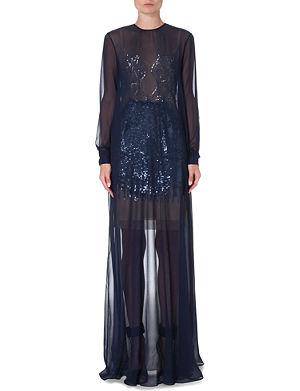 MARIOS SCHWAB Sequin-detailed sheer silk gown