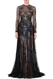MARIOS SCHWAB Sheer lace gown