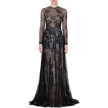 MARIOS SCHWAB Sheer lace gown (Black