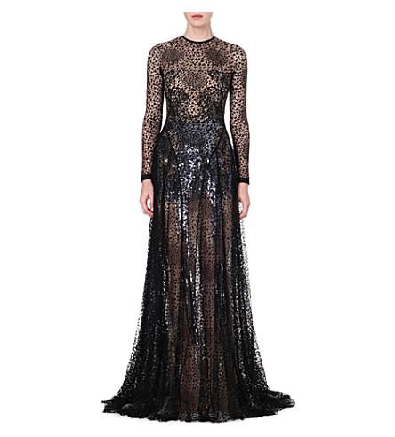 MARIOS SCHWAB Sheer lace gown (Black