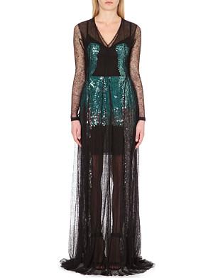 MARIOS SCHWAB Lace sequinned dress