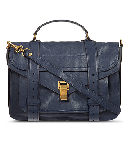 PROENZA SCHOULER Ps1 medium leather satchel bag (Midnight