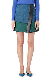 PROENZA SCHOULER Leather-trim tweed skirt
