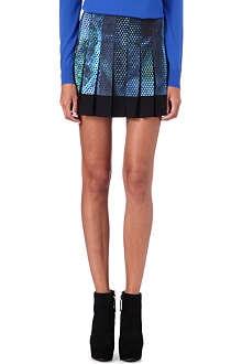 PROENZA SCHOULER Geometric-print pleated skirt