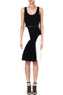PROENZA SCHOULER Pleated-skirt crepe dress