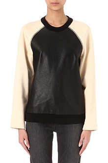 PROENZA SCHOULER Leather-panel sweatshirt