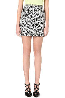 PROENZA SCHOULER Zig-zag tweed mini skirt