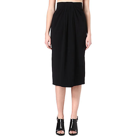 PROENZA SCHOULER Gathered-front pencil skirt (Black
