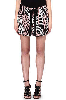 PROENZA SCHOULER Leaf print mini skirt