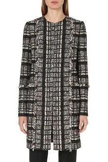 PROENZA SCHOULER Collarless tweed coat