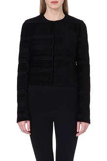 PROENZA SCHOULER Calfskin-trimmed jacquard jacket