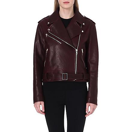 PROENZA SCHOULER Leather biker jacket (Aubergine