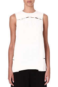 PROENZA SCHOULER Cut-out sleeveless crepe top
