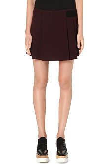 PROENZA SCHOULER Suede-panel pleated skirt