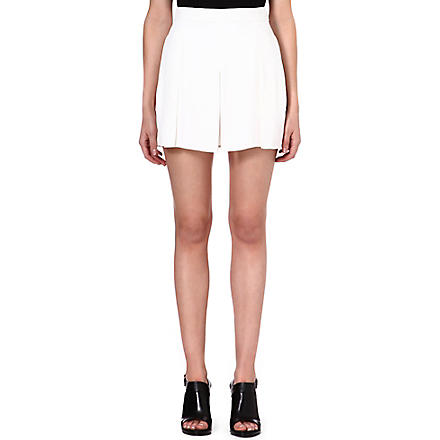 PROENZA SCHOULER Pleated crepe shorts (White
