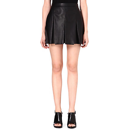 PROENZA SCHOULER Pleated leather shorts (Black