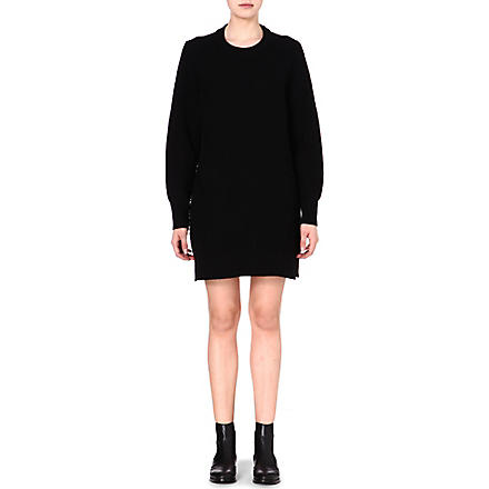 PROENZA SCHOULER Contrast-texture jumper dress (Black