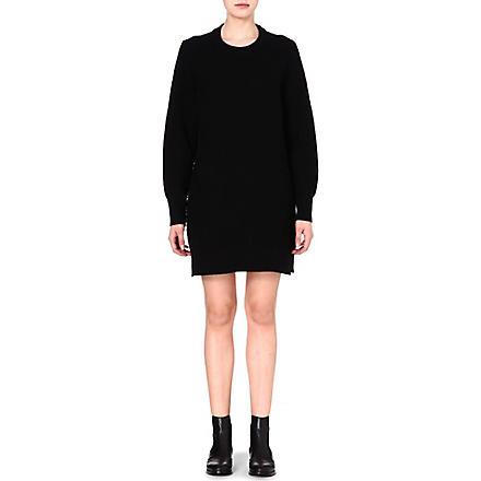 PROENZA SCHOULER Contrast-texture jumper dress (Black