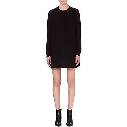 PROENZA SCHOULER Trapeze wool-blend dress (Aubergine