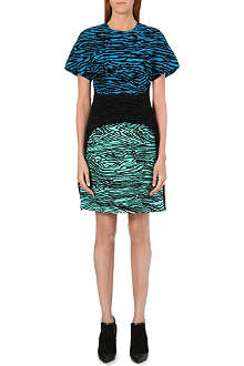PROENZA SCHOULER Flocked woodgrain dress