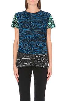PROENZA SCHOULER Woodgrain-print cotton-jersey t-shirt