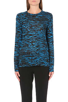 PROENZA SCHOULER Woodgrain-print long-sleeved top