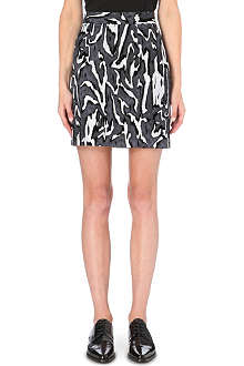 PROENZA SCHOULER Moiré flocked mini skirt
