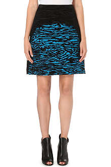 PROENZA SCHOULER Flocked woodgrain A-line skirt