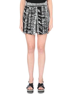 PROENZA SCHOULER Tribal-print crepe shorts