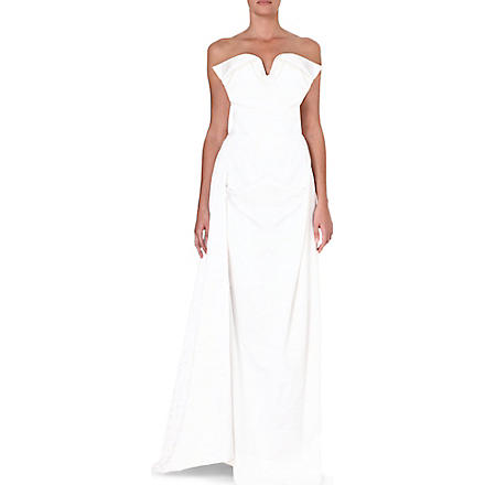 VIVIENNE WESTWOOD Sleeveless bustier gown (Tartan